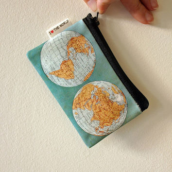 World map zipper pouch, coin purse with ancient world map on it, special gift, wallet, Women wallets, Mens wallet, on SALE