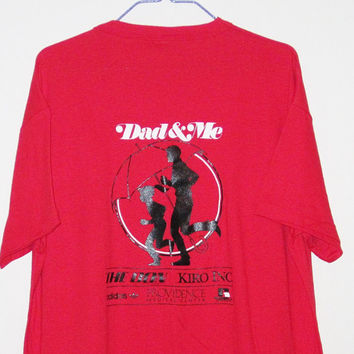 Vintage 80's Dad and Me ADIDAS Seattle Run 50/50 T-Shirt - Size LARGE