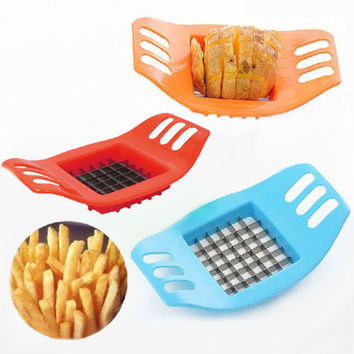 Stainless Steel Vegetable Potato Slicer Cutter Chopper Chips Making Tool