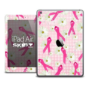 The Pink Cancer Awareness V1 RIbbon Skin for the iPad Air