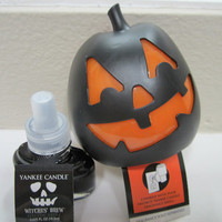 Yankee Candle Jack O Lantern Scent Plug + Witches Brew Refill Halloween