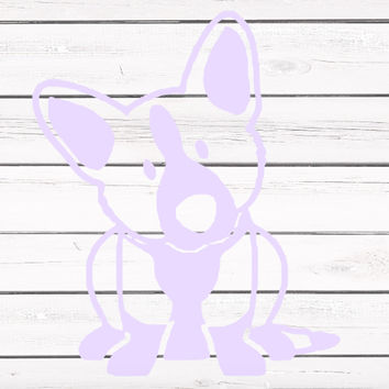Solid Colored Corgi Vinyl Decal For Yeti Tumblers, Cars, and Tech Devices