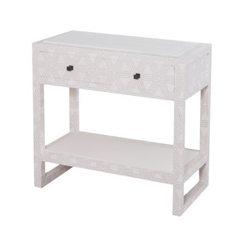 7011-1034 Bedford Fabric Wrapped 2 Drawer Bedside Table