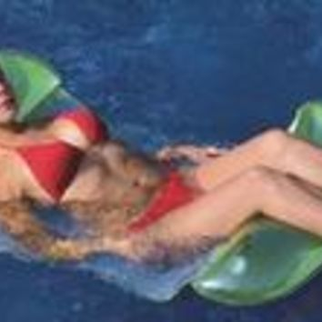 2-in-1 Inflatable Lounge Chair Hammock Pool Float
