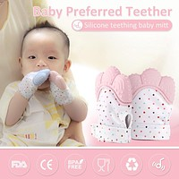 Silicone Teether Baby Pacifier Gloves & Mittens Teething Chewable Newborn Nursing Teether Infant BPA Free Pastel Toys for Child