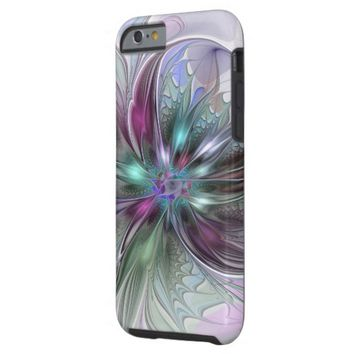 Colorful Fantasy, abstract and modern Fractal Art Tough iPhone 6 Case