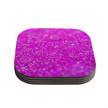 "Beth Engel ""Raspberry Sorbet"" Coasters (Set of 4)"
