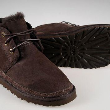 LFMON UGG 3236 Suede Men Fashion Casual Wool Winter Snow Boots Chocolate