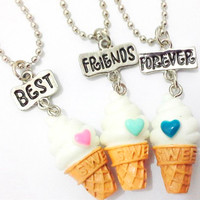 BFF Ice Cream Pendant & Necklace