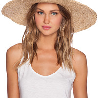 Hat Attack Metallic Sunhat in Tan