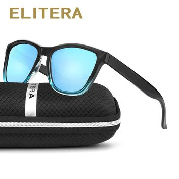 ELITERA New Fashion Polarized Women Sunglasses Famous Lady Brand Designer Gradient Colors Coating Mirror Sun Glasses UV400