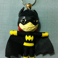 Batgirl Batman Comics Hero String Voodoo Doll Keyring Keychain movie cartoon model film Key Ring Key Chain handmade funny  gift cute