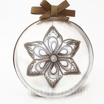 3d christmas ornament, clear ornament, plastic christmas ball, star, xmas tree, holiday ornament, snowflake decor, paper christmas