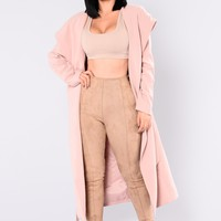 Serena Hooded Jacket - Blush