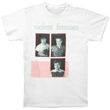 Violent Femmes Men's  Group Slim Fit T-shirt White