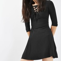 Lace Up Flippy Dress | Topshop