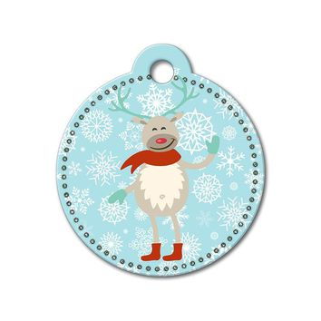 Reindeer Holiday Dog Tag