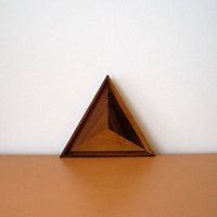 Vintage Wooden Triangle Tray