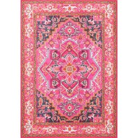 nuLOOM Global Passion Violet Pink Indoor Rug