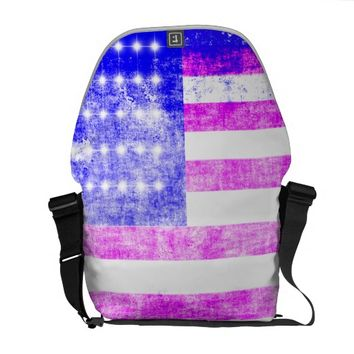 Flag U.S. Messenger Bag