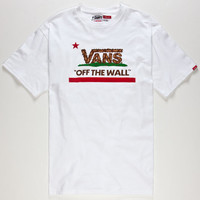 Vans Eureka Bear Mens T-Shirt White  In Sizes