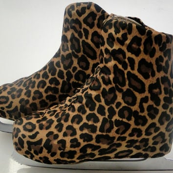 Leopard Cheetah Skate Boot Covers / Figure Skating / Ice Skating / Roller Skating