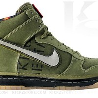 Nike Men's Dunk Hi Premium QS Galaxy Green style # 503766-300