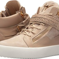 Giuseppe Zanotti Mens May London Braided Mid Top Sneaker