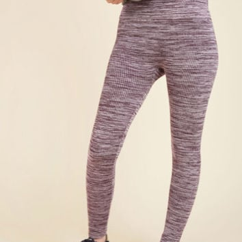 Heed Your Warming Fleece-Lined Leggings in Lilac | Mod Retro Vintage Pants | ModCloth.com