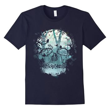 Dark Forest Skull T-shirt