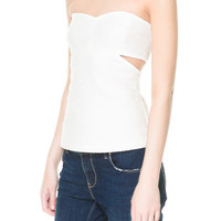 TOP JACQUARD DÉCOUPES - Chemises - TRF | ZARA France