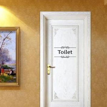 Toilet door Entrance Sign stickers diy personalized bathroom decoration wall decals For Shop Office Home Cafe Hotel