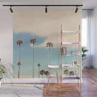 Palm trees Wall Mural by sylviacookphotography