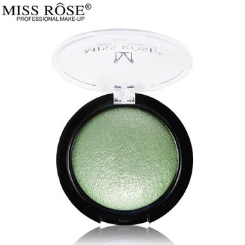 Miss Rose Single Color Baked Eyeshadow Palette Professional Eye Makeup Shimmer Metallic Eye Shadow