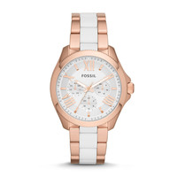 Cecile Multifunction Stainless Steel and Nylon Watch – Rose
