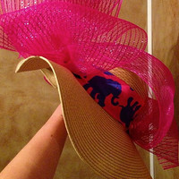 Custom Derby Sun Hat with Lilly Pulitzer Prints Races