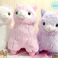 Bowknot Arpakasso Alpacasso Alpacos Alpaca Toy Plush Doll Gift 50cm 3Color cute