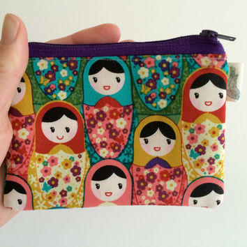 Coin Purse Coin Bag Small Cosmetic Clutch in Babushka