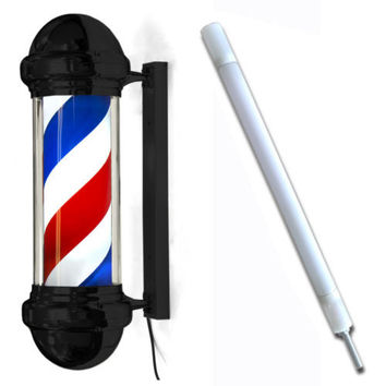 "30"" Barber Black Barber Pole Light"