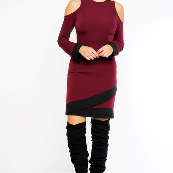 Mya Dress - Wine