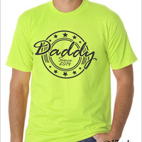 Daddy since 2014, t-shirt design, man, sizes S-XL, any color, great gift