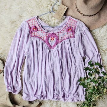 Free People Sweet Begonia Tee in Lilac