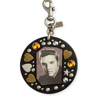 Coach 1941 Elvis Studded Bag Charm, Black