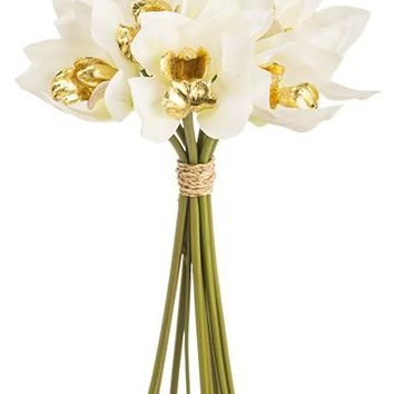 Artificial Holiday Flowers Cymbidium Orchid Bouquet