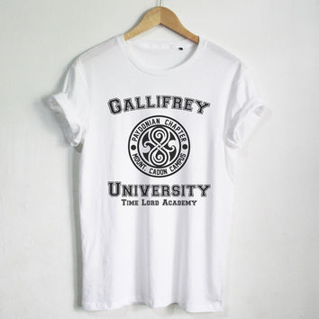 Gallifrey University shirt Doctor Who T-shirt Fashion Hipster Unisex tshirt tumblr Pinterest