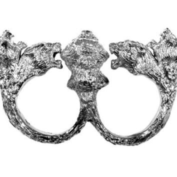 Rabid Fox Beast Master Silver Knuckle Duster by Fleathers on Etsy