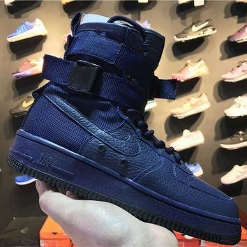 PEAPON3A VAWA Nike Special Forces Air Force 1 High 857872-400 Boots Blue