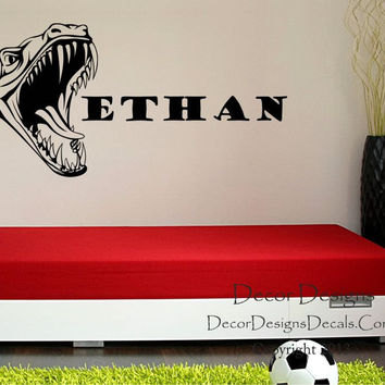 Dino Boys Name Wall Decal