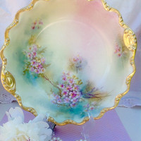 Coronet Limoges French and painted bowl.