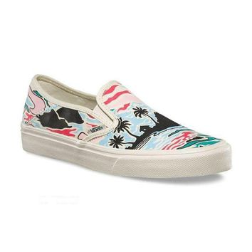 VLXZRBC Trendsetter Vans Slip-On Canvas Old Skool Print Flats Shoes Sneakers Sport Shoes